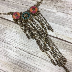 Lucky Brand Jewelry - Lucky brand brass and enamel Vintage necklace